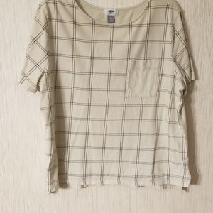 Womens black and beige old navy shirt
